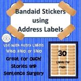 Bandaid Stickers using Address Labels