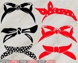 Bandana mask Silhouette clipart country farm cowboy wild west western scarf 782s