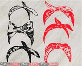 Bandana mask Silhouette clipart country farm cowboy wild west western scarf 809s