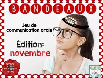 Bandeaux Oral communication game - Jeu de communication orale *NOVEMBRE*