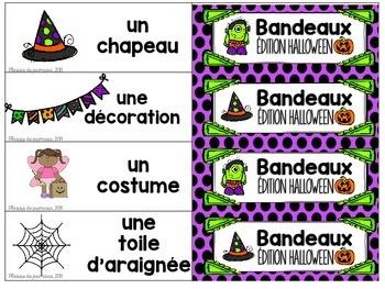 Bandeaux Oral communication game - Jeu de communication orale *HALLOWEEN *