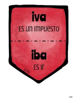 Spanish Homophones Banners / Banderillas de Homófonos