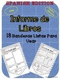 Banderas para Informe de Libros (Reading Response) Español Spanish