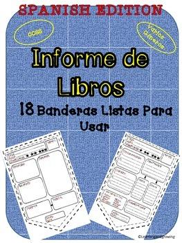 Banderas para Informe de Libros (Reading Response) Español