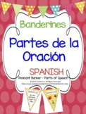 Banderines - Partes de la Oración (Spanish Parts of Speech Pennant Banner)
