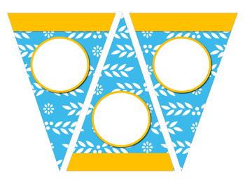 Banderines con motivos mexicanos