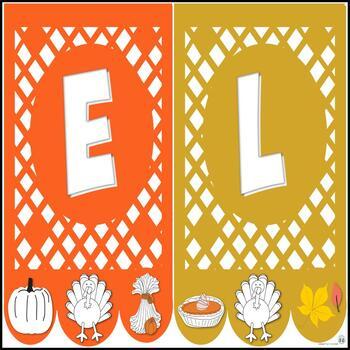 Banderines de Papel Picado * para El Día de Acción de Gracias