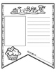 Banderines de escritura para el año (Writing pennants SPANISH)