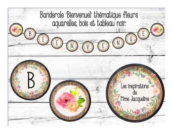 Banderole 'Bienvenue!' FRENCH Welcome Banner