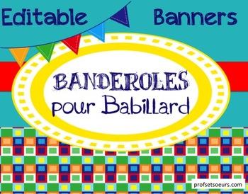 Banderoles Editables/ Banners