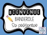 Banderoles Je me présente français/French banners