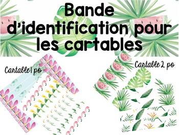 Bandes d'identification pour les cartables