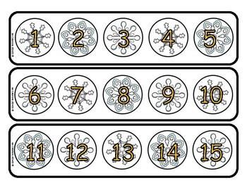 Bandes numériques - 1 à 100 -Flocons