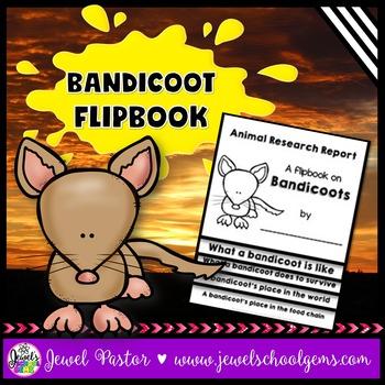 Australian Animals Activities (Bandicoot Research Flipbook)