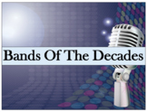 Bands Of The Decades: Bulletin Layout
