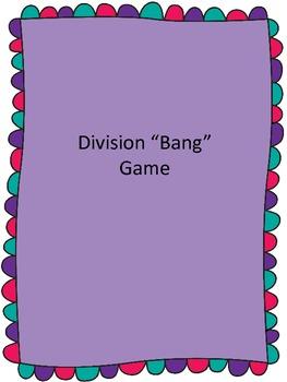 Bang! Division Fact Game