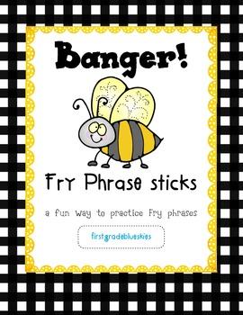 Banger! Fry Phrase Sticks Literacy Station