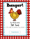 Banger Two! Fry Phrase Sticks Literacy Station
