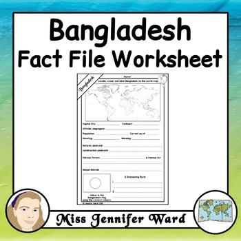 Bangladesh Fact File Worksheet