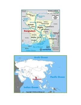 Bangladesh Map Scavenger Hunt