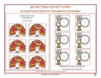 Banishing Bad Behavior in November:  We Are Totally Terrific Turkeys!