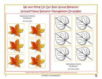 Banishing Bad Behavior in October:  We're Falling Into Good Behavior!