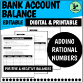 Bank Account Balance: Adding Rational Numbers   Distance Learning