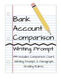 Bank Account Comparison Writing Prompt