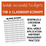 Bank Account Ledger - A Classroom Economy Must-Have!