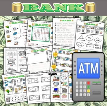 Bank / Money Themed Activity Set