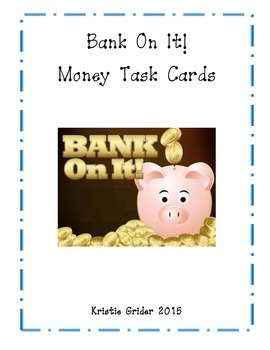 Bank On It! Money Task Cards (Math)