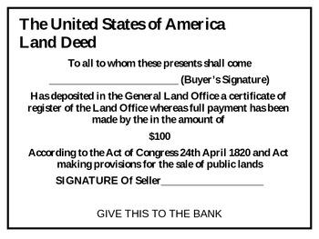 United States History Bank Panic Simulation
