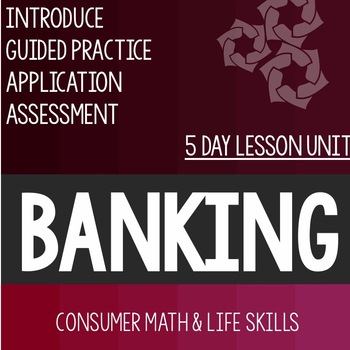 Bank Services Bundle- High School Special Education