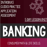 Banking Personal Finance Lessons High School Special Education