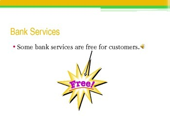 Bank Services PowerPoint- High School Special Education