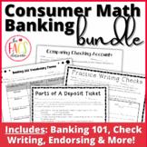 Consumer Math Banking Bundle for Life Skills Math