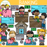 Math Kids Banking Clip Art: Dramatic Play and Community