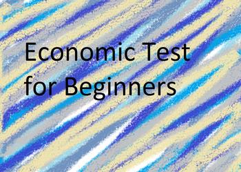 Banking/Economics Math Test