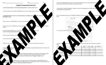 Banking Services Test - Financial Algebra