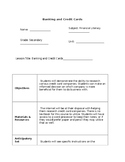 Banking and Credit Cards Lesson Plan