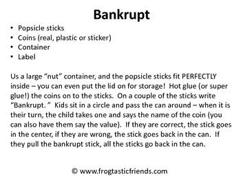 Bankrupt - Coin Recognition Game