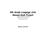 Banned Book Project w/ CCSS Rubric for 8th grade English Language Arts EDITABLE