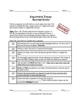 Banned Books: Argument Essay