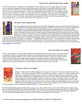 Banned Books Info Sheet
