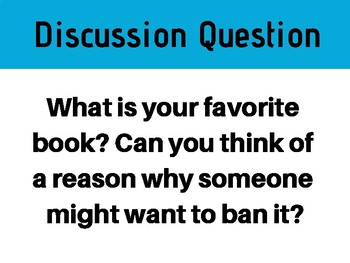 Banned Books Week Discussion Cards