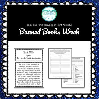 Customizable Banned Books Week Seek & Find Scavenger Hunt Game ***Easy Prep