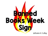 Banned Books Week Sign