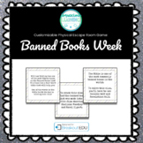 Banned Books Week Customizable Escape Room / Breakout Game