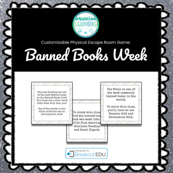 Banned Books Week Themed Breakout Game