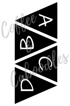 Banner Alphabet Black and White (Small)